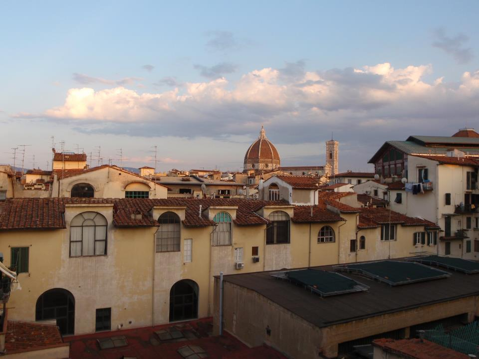 The view from our hostel in Florence