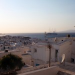 View from our hotel in Mykonos