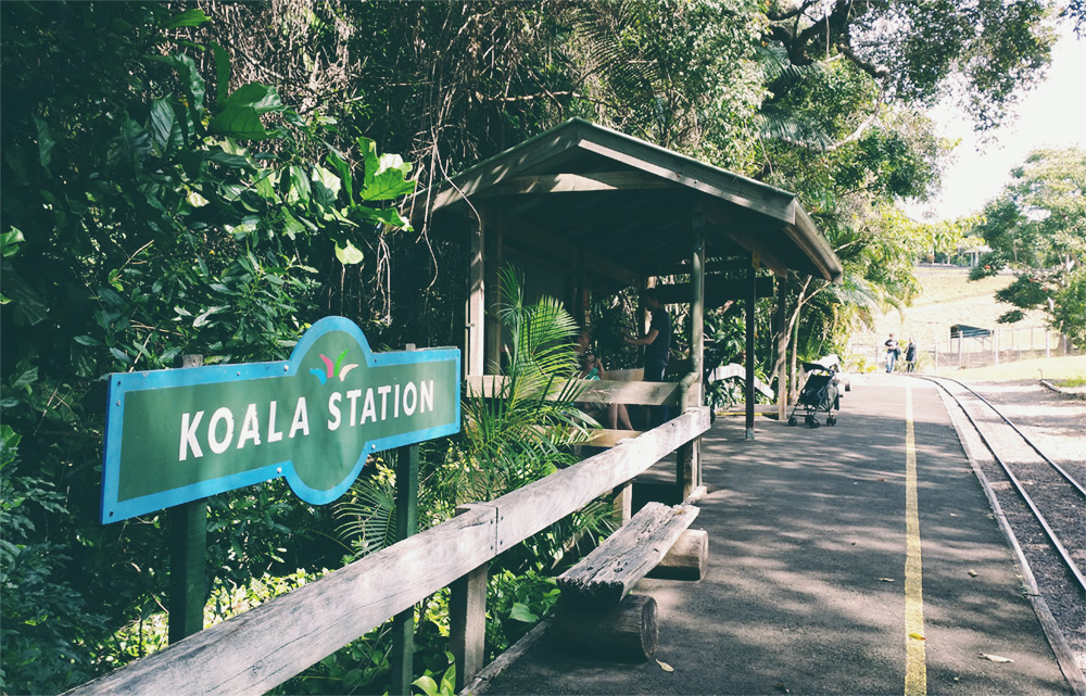 Queensland Zoo - train station