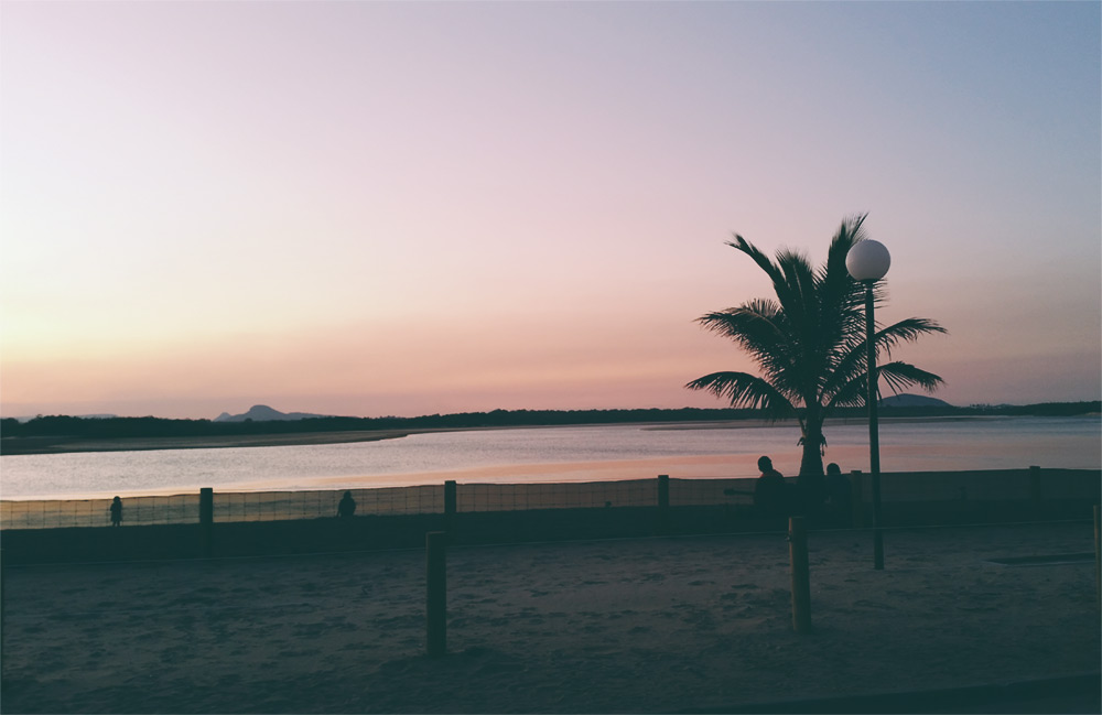 Sunset at Maroochydore Cotton Tree